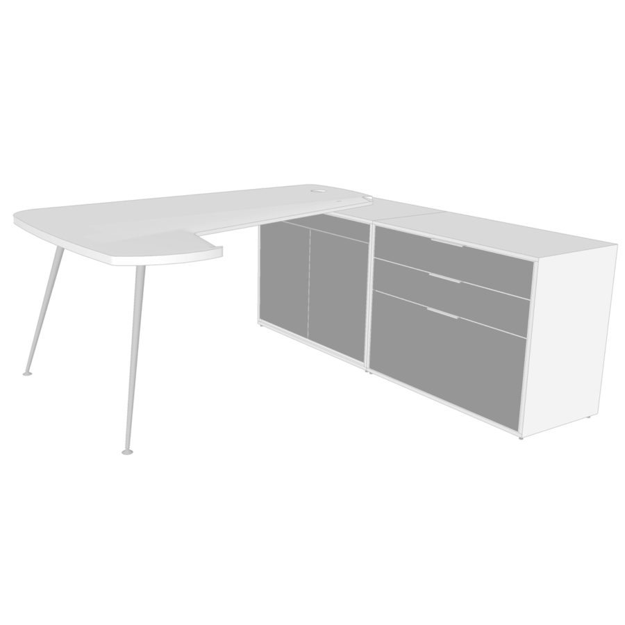 Envi-curved-top-with-Unit-2D-and-unit-with-drawers-product