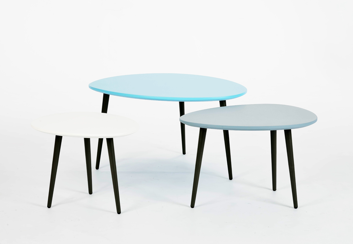 Merveilleux Pebble C Table Individual