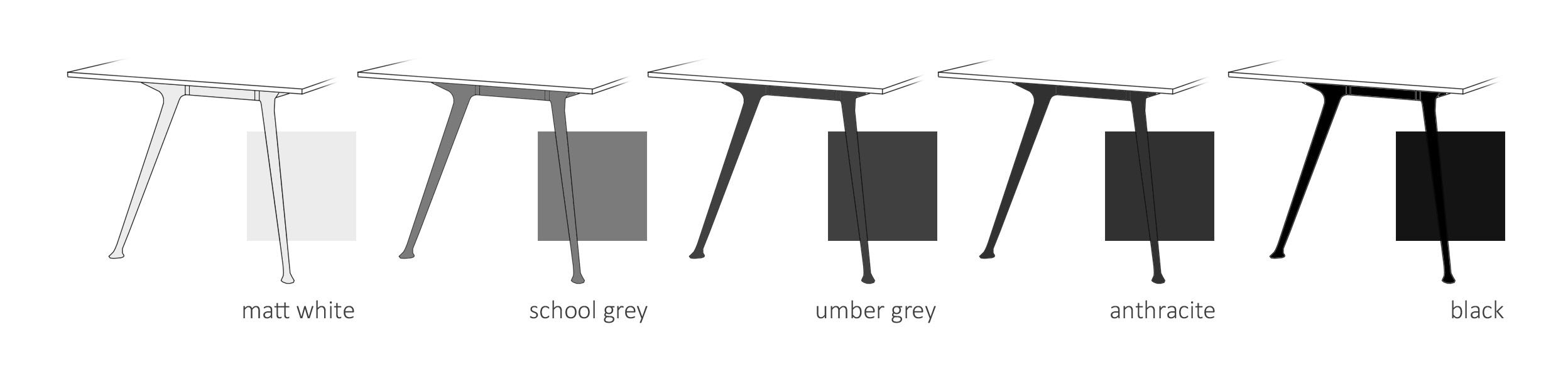 table leg colours