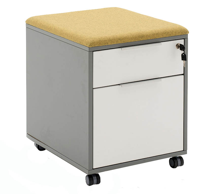 Ergoform mobile pedestal with two drawers