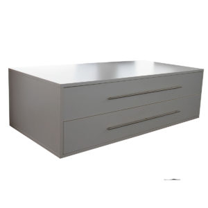 Low storage with long drawers
