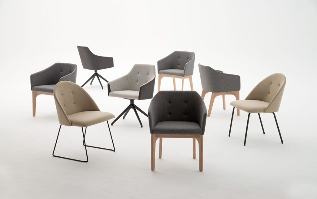 Ergoform office furniture dimensions Noot chairs