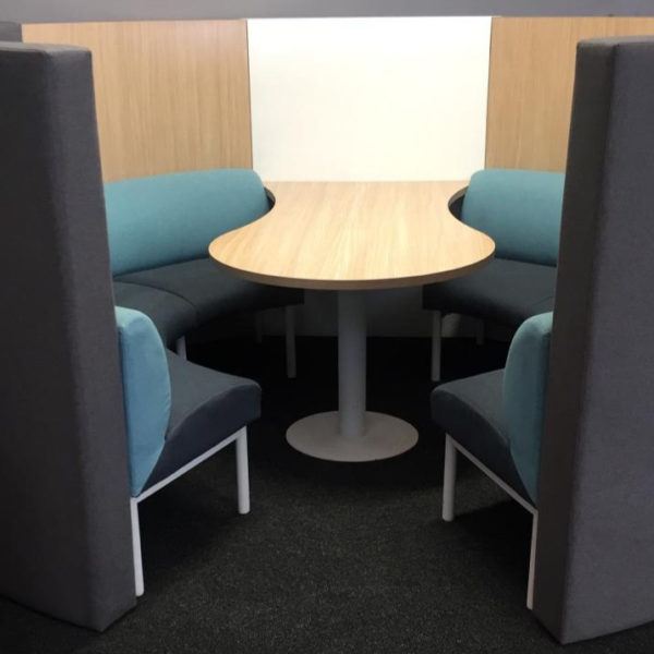 meeting pod with centre table